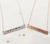 I love you to the moon and back necklace ( 3 colors)