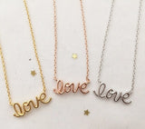 LoVe Necklace(3colors)