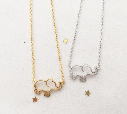 Elephant Outline necklace