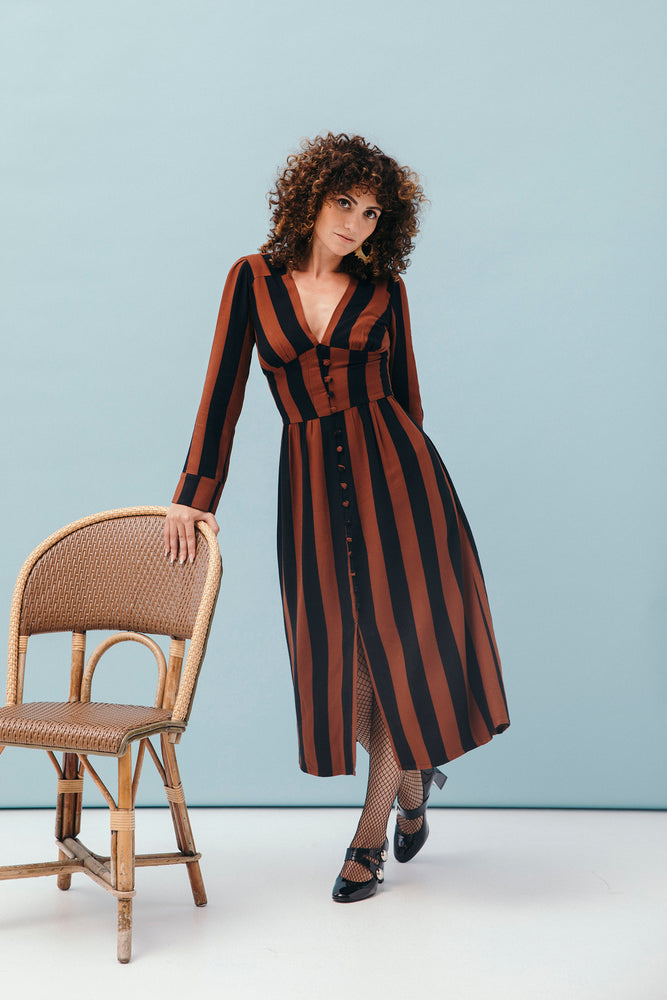 ROBE HERMIONE CARAMEL STRIPES