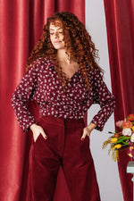 TOP LOULOU DAISY BORDEAUX
