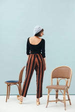 PANTALON JULIETTA CARAMEL STRIPES