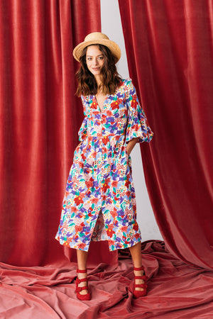 ROBE LEANDRA ENGLISH GARDEN