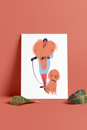 ILLUSTRATION CANICHE CHIC-A4