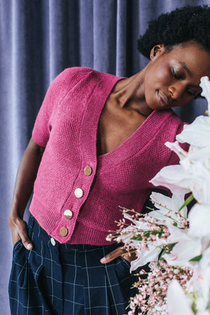 CARDIGAN NILS ROSE