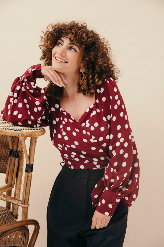 TOP HANNA POLKA BORDEAUX