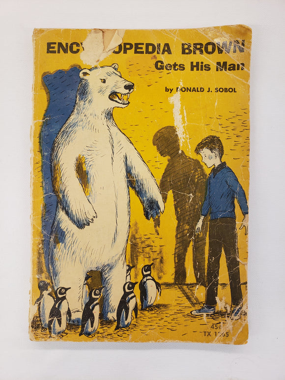 Vintage Children's Book Encyclopedia Brown Gets His Man