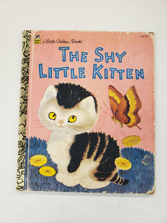 Vintage Children's Book The Shy Little Kitten