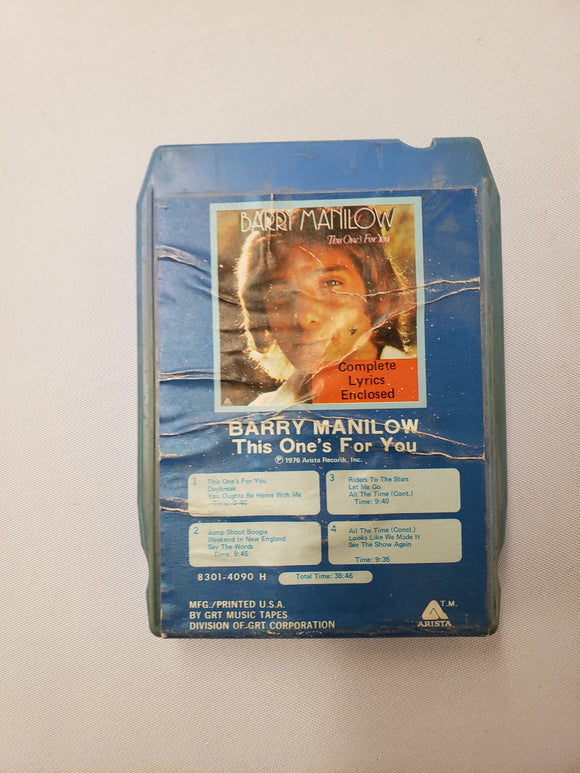 Barry Manilow This One's For You 8 Track