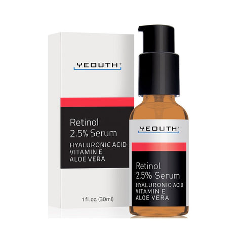 2.5% Retinol Serum + Hyaluronic Acid, Vitamin E, Aloe Vera