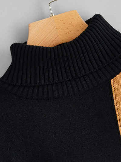 Cut And Sew Dip Hem Jumper