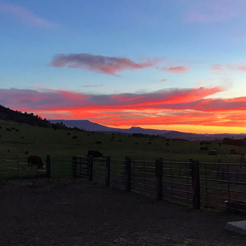 Sunset over the Grand Mesa