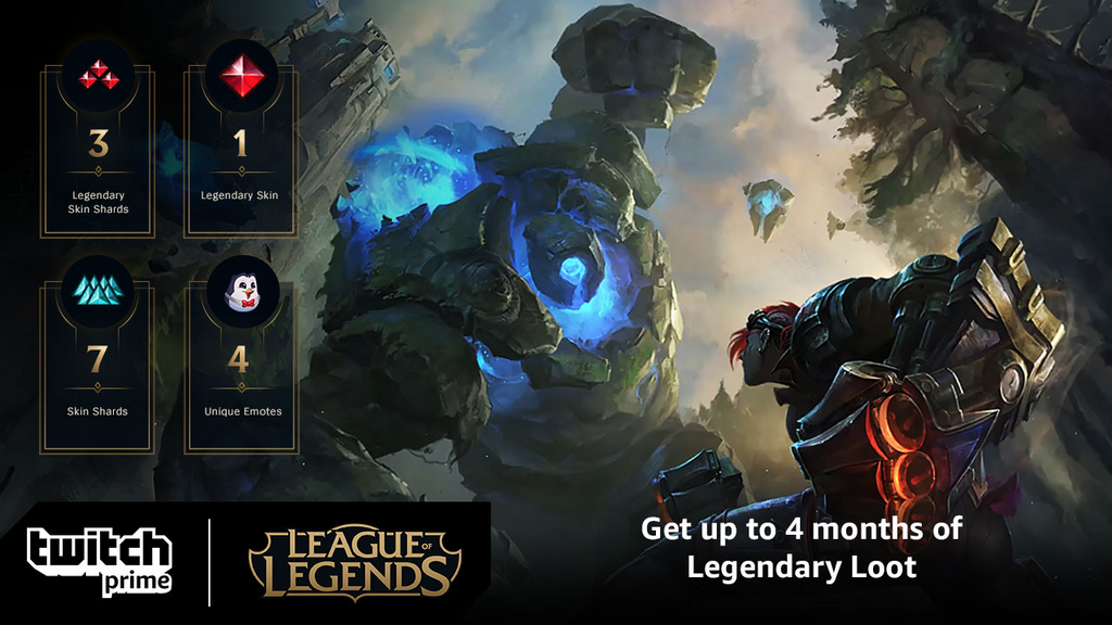 Amazon Prime Is Giving Away Four Months Of Free League Of Legends Loot