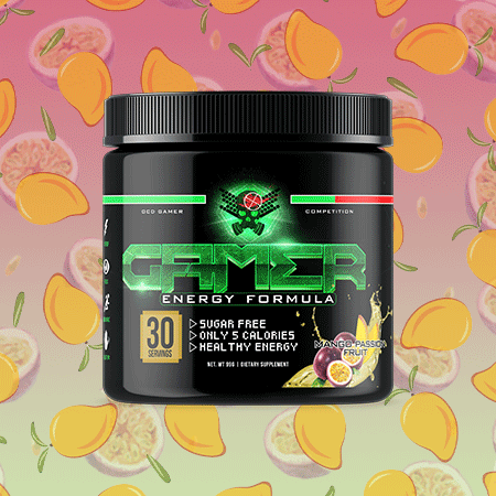 Image of P2 Gamer Energy - Mango Passion Fruit