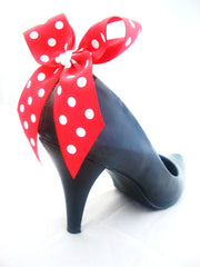 Polka Dot Heel Bows Minnie Mouse Bow Clips for Heels... x
