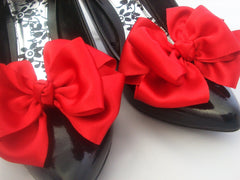 Burlesque Bow Shoe Clips Bows For Shoes from Seriously Sassyx in Red