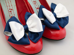 Nautical Bow Shoe Clips..xxx From Seriously Sassyx