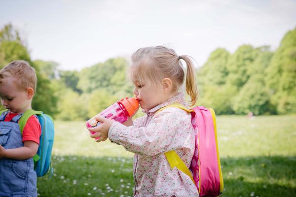 Flip top water bottles for kids