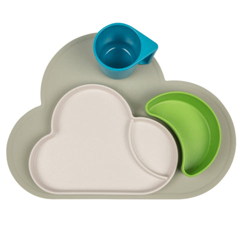 Eco Cloud Dining Set & Placemat Bundle - Blue/Green