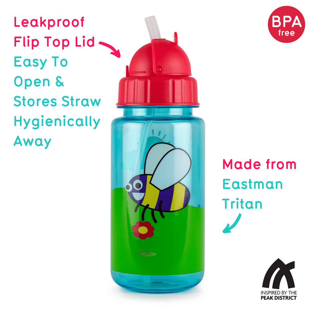 Flip top kids drinking bottle