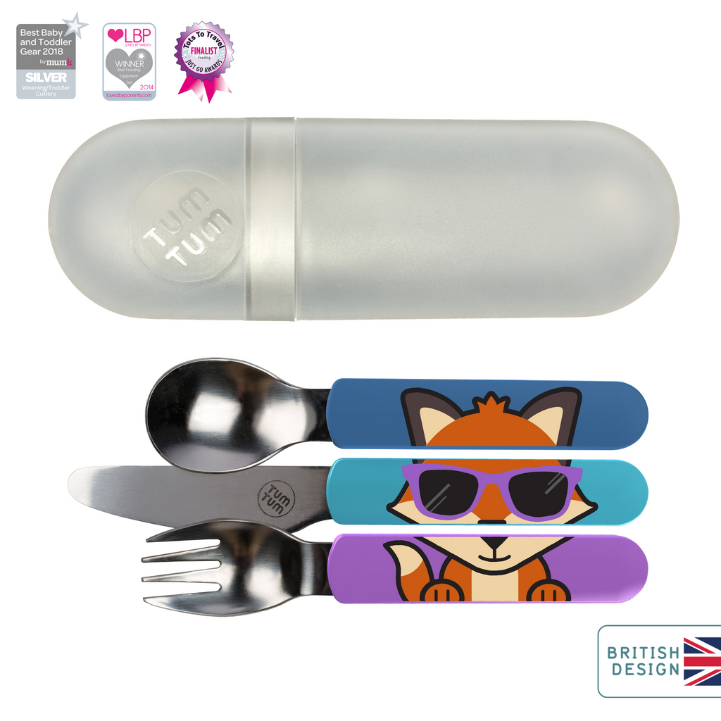 Easy Scoop Toddler Cutlery with Travel Case, Felicity Fox