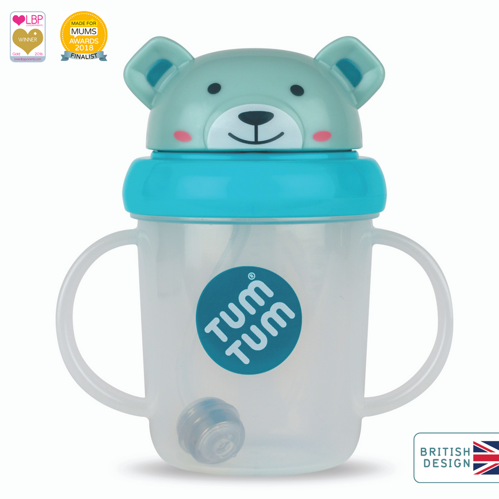 Tippy Up Sippy Cup with Weighted Straw (Valve Free), Boris Bear, 200ml