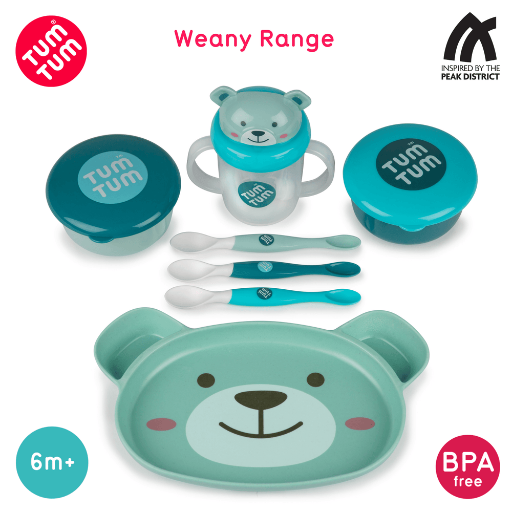 2pc Peepo Weaning Pots Set, Boris Bear