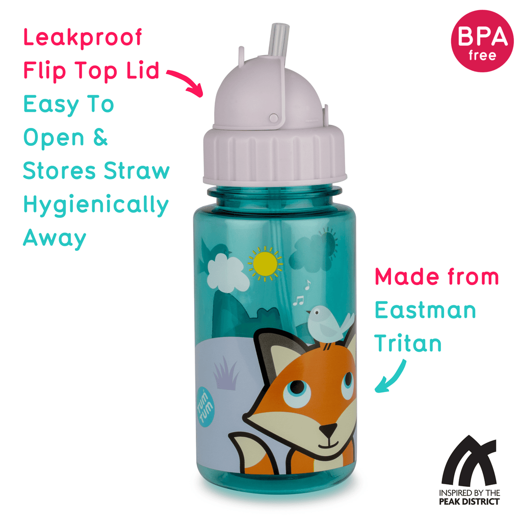 Kids water bottle fox