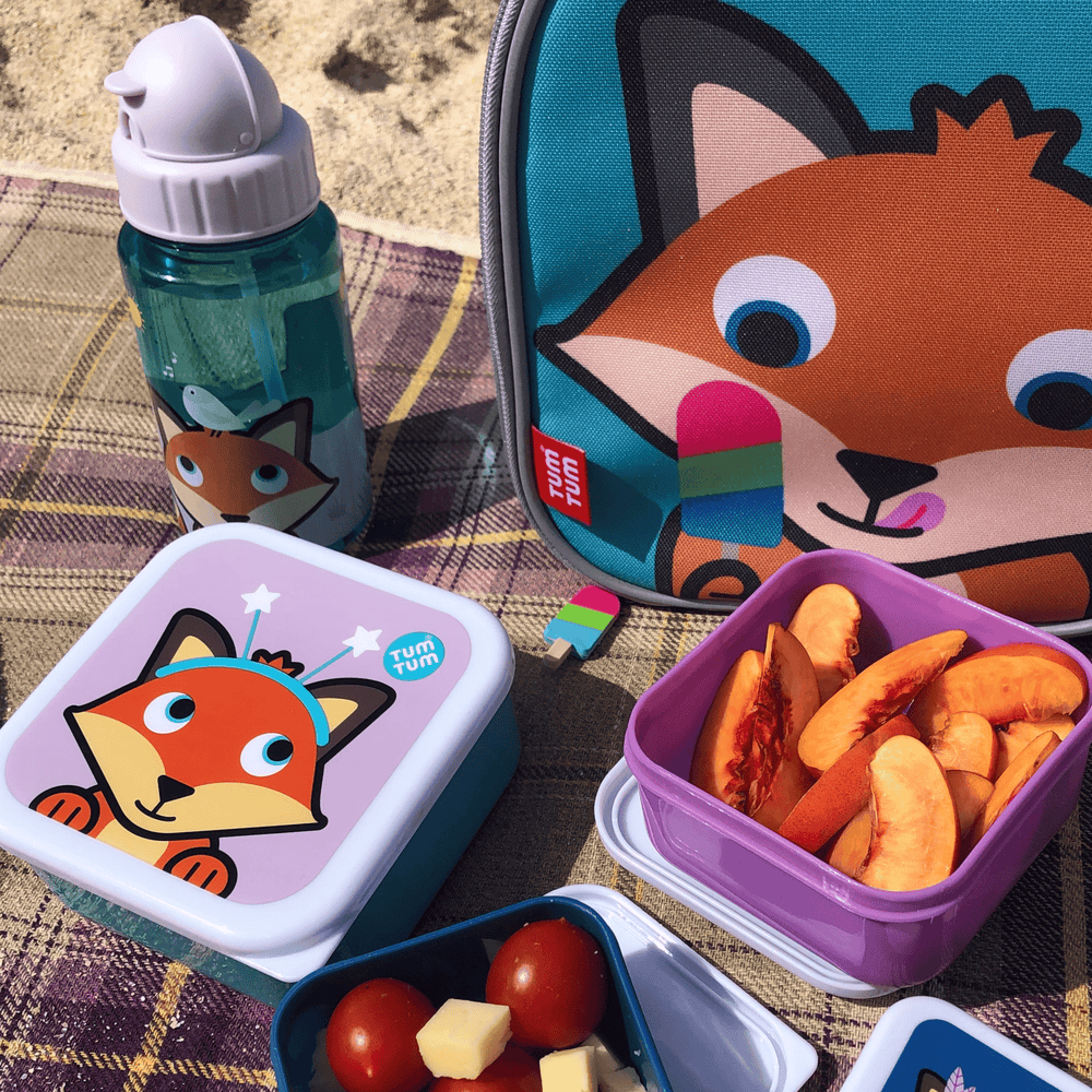 Fox kids lunch set