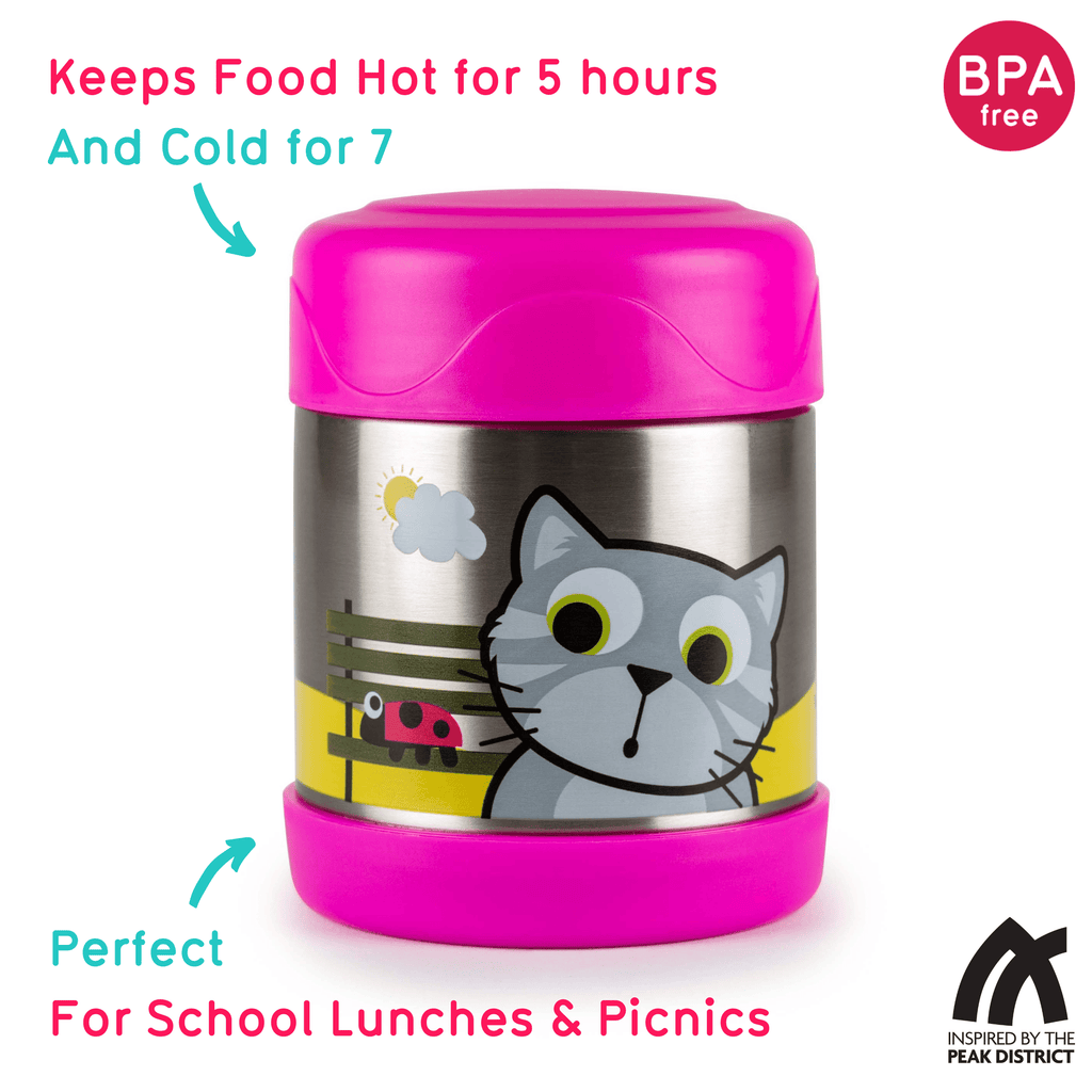 Kids Food Flask, Bluebell the Cat, 300ml