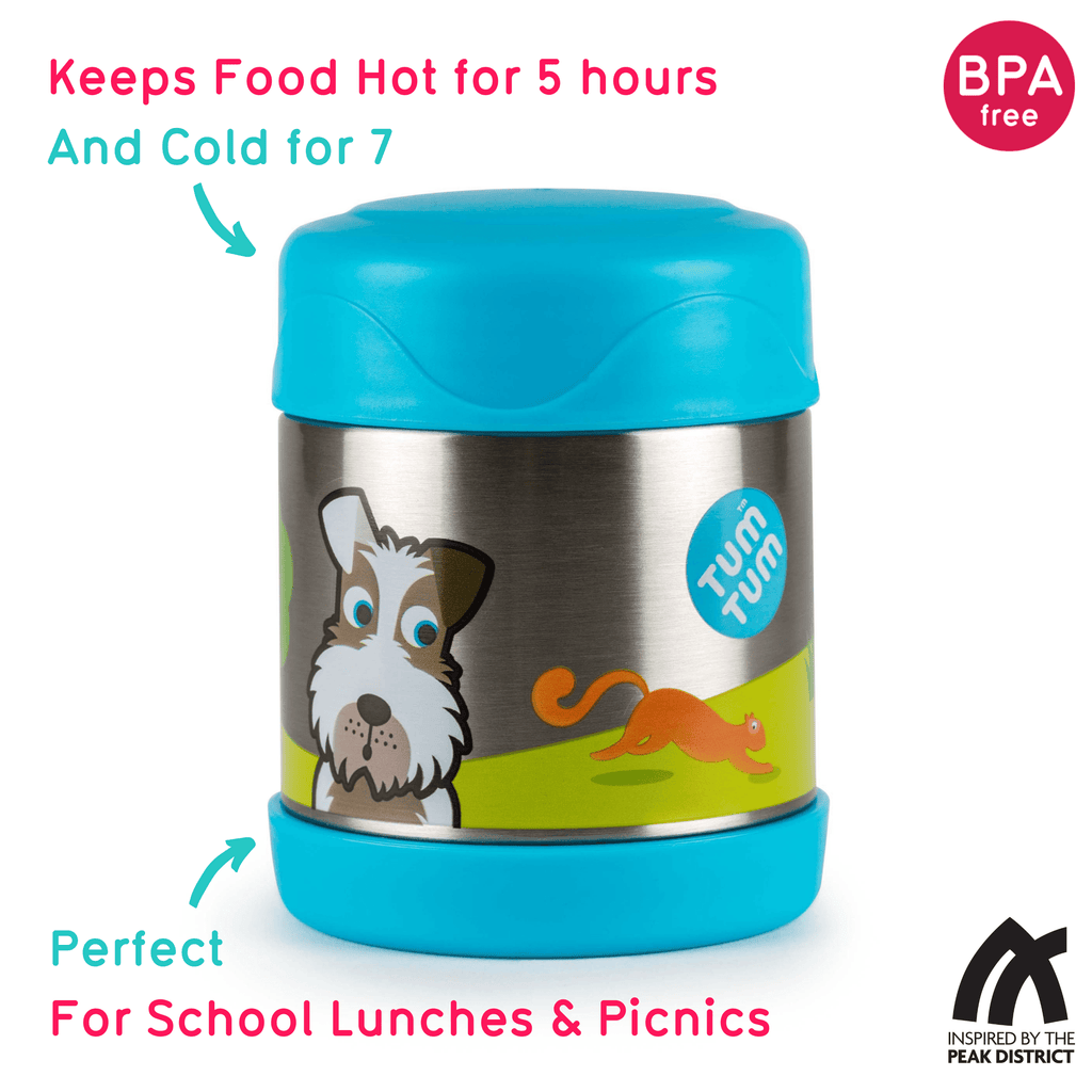 Kids Food Flask, Scruff the Dog, 300ml