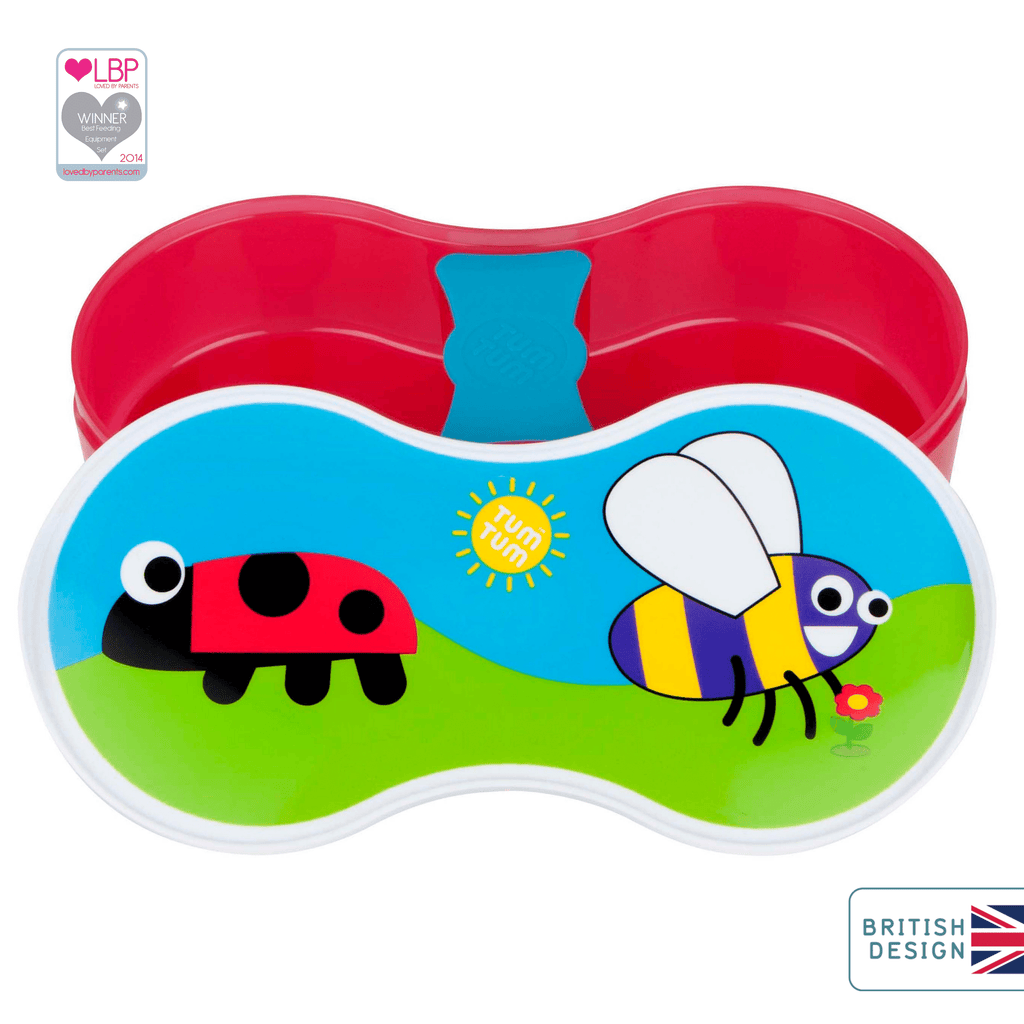 Kids Lunch Box with Dipping Pot separator, Bugs