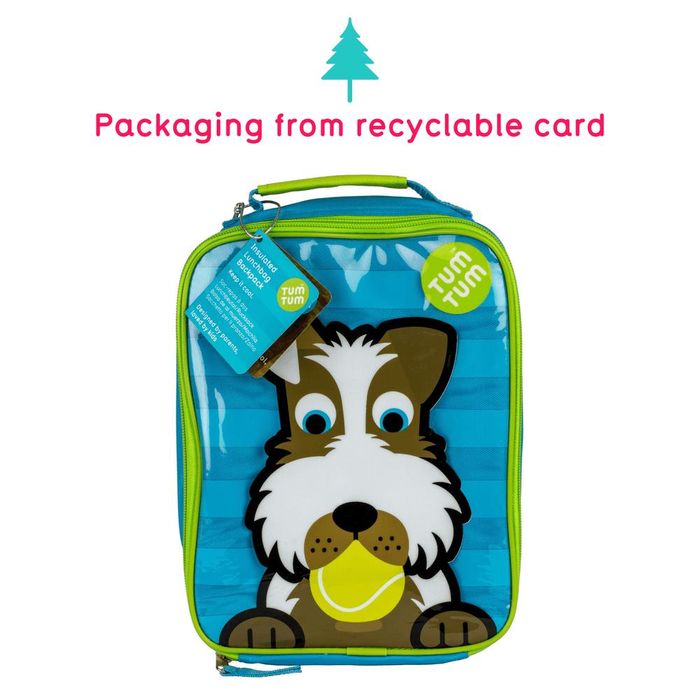 Insulated Backpack Style Lunch Bag for Kids, Scruff the Dog