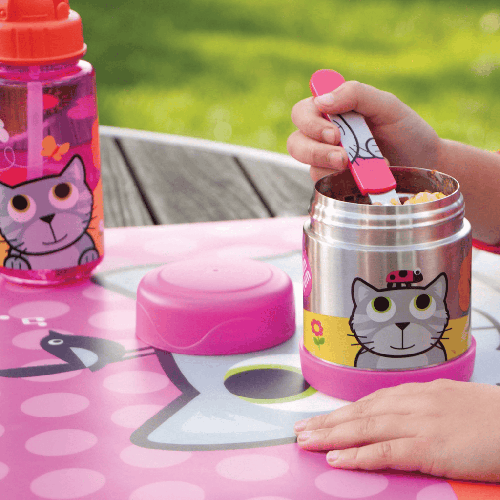 Cat placemat pink