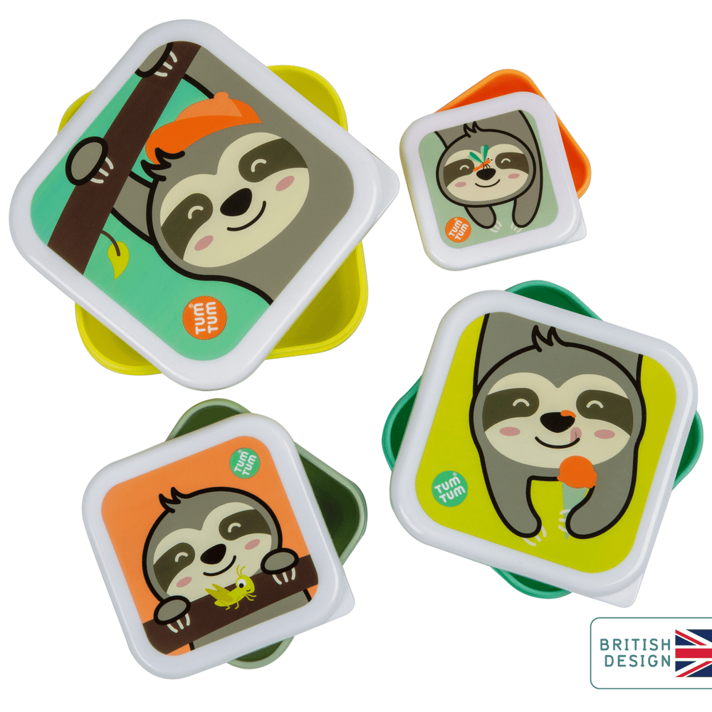 Set of 4 Nesting Snack Pots for Kids, Stanley Sloth