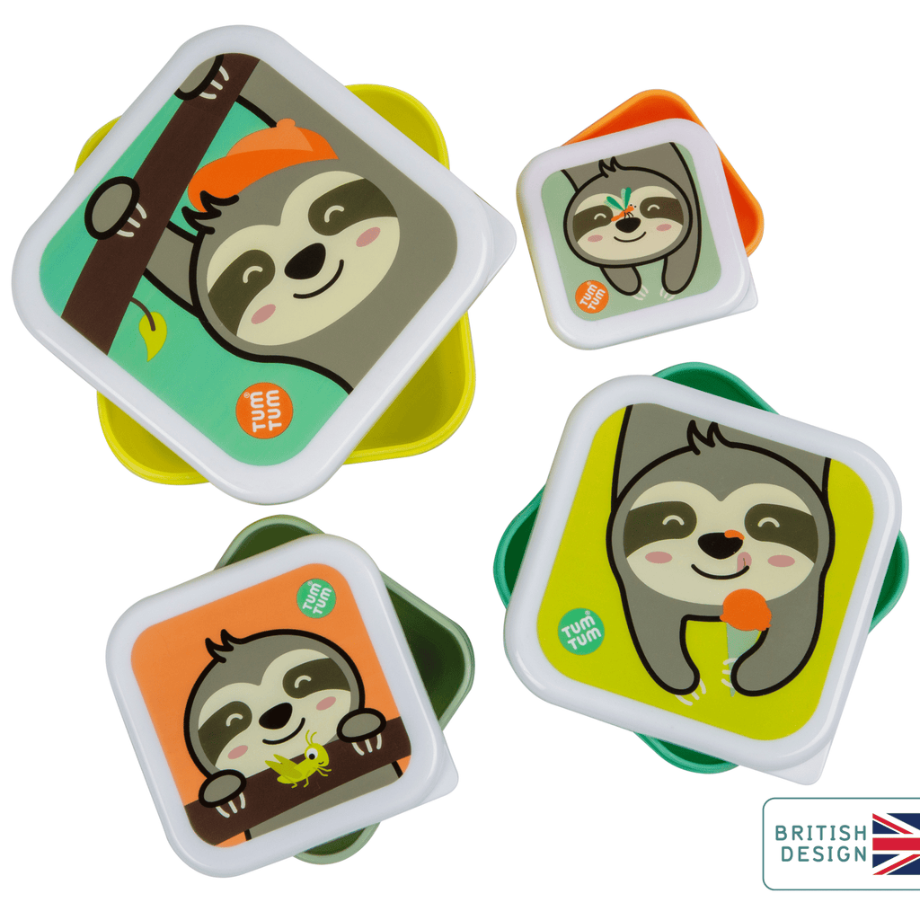 Kids snack boxes sloth