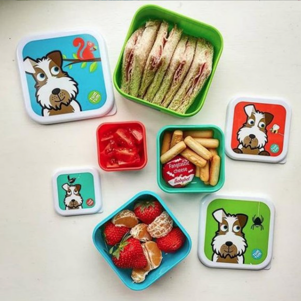 Set of 4 Nesting Snack Pots for Kids, Scruff the Dog