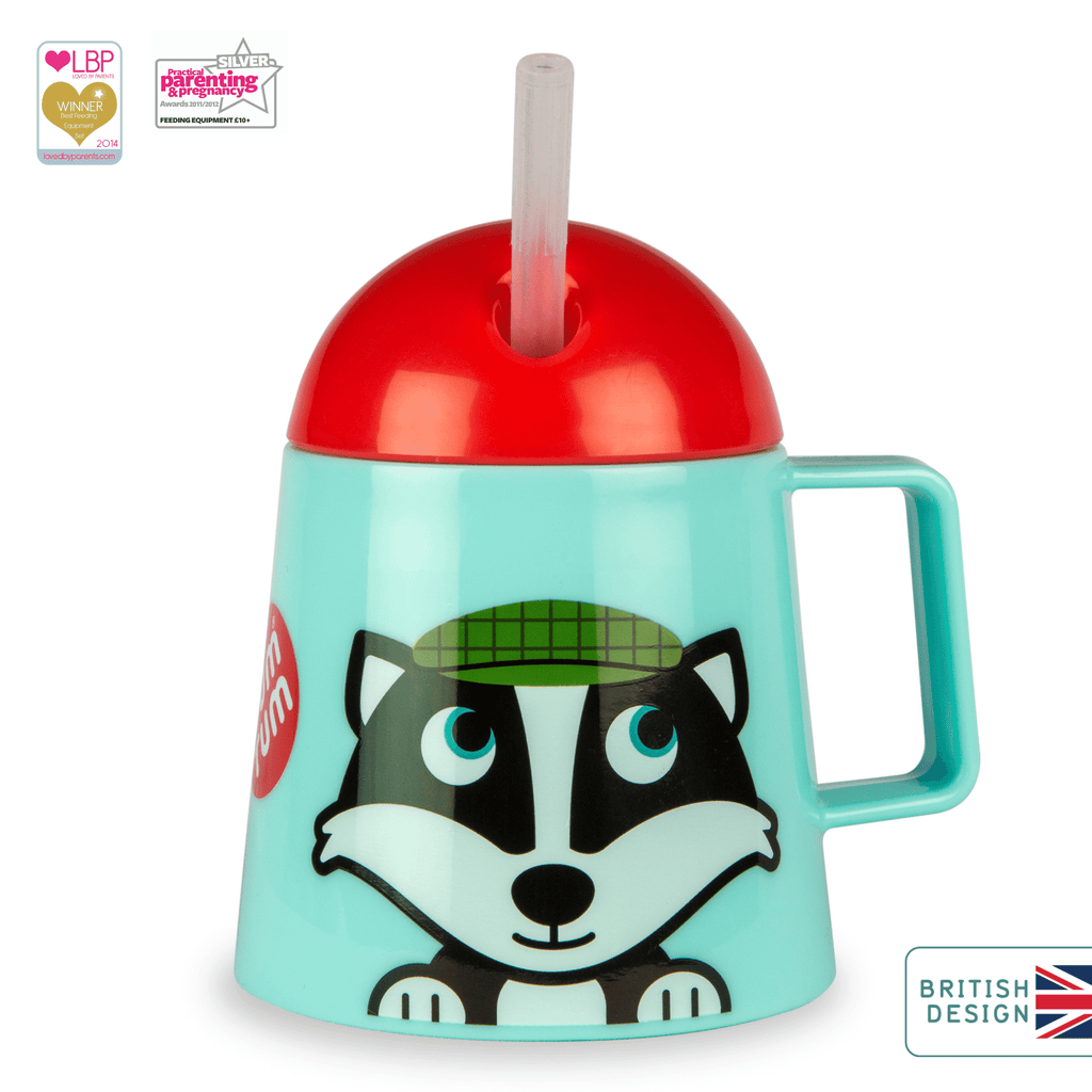 Super Stable Free Flow Sippy Cup, Bob the Badger, 180ml