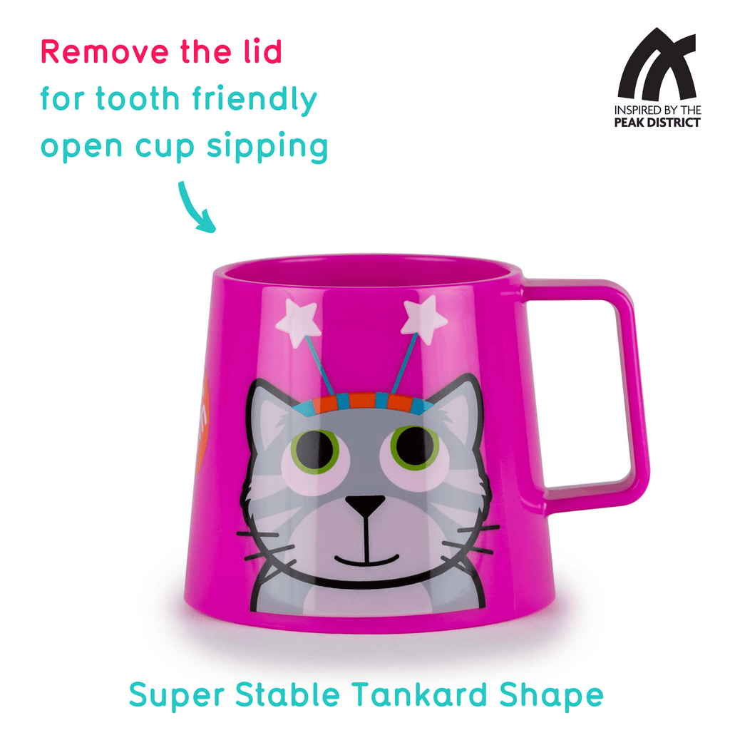 Super Stable Free Flow Sippy Cup, Bluebell the Cat, 250ml