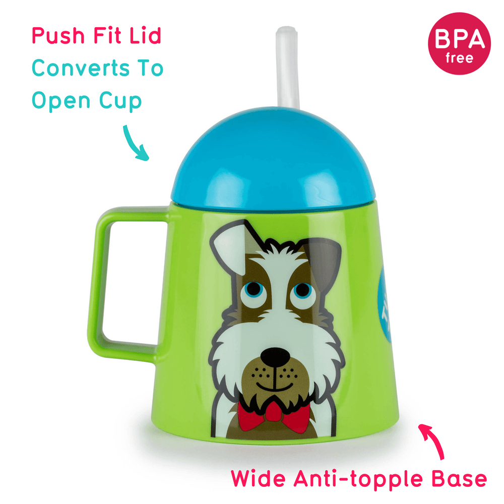 Super Stable Free Flow Sippy Cup, Scruff the Dog, 180ml