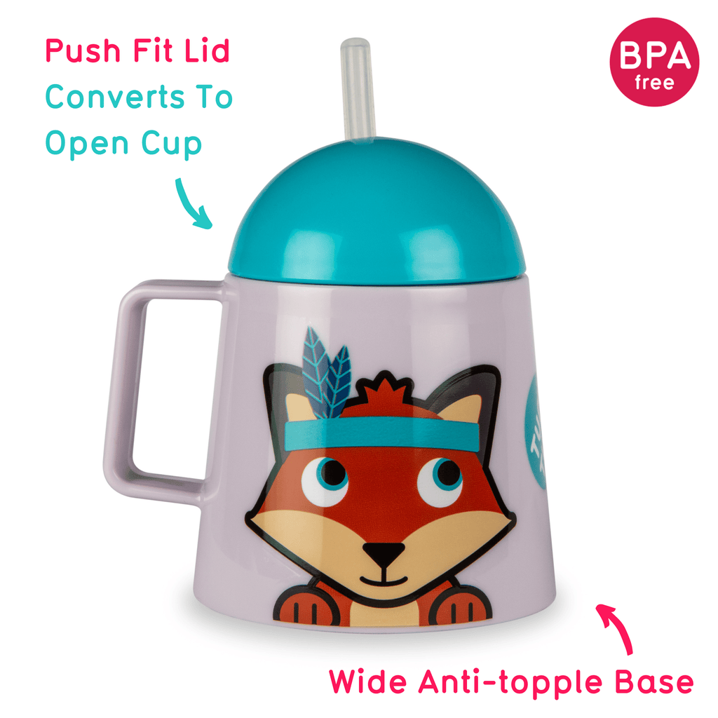 Super Stable, Free Flow Sippy Cup, Felicity Fox, 250ml