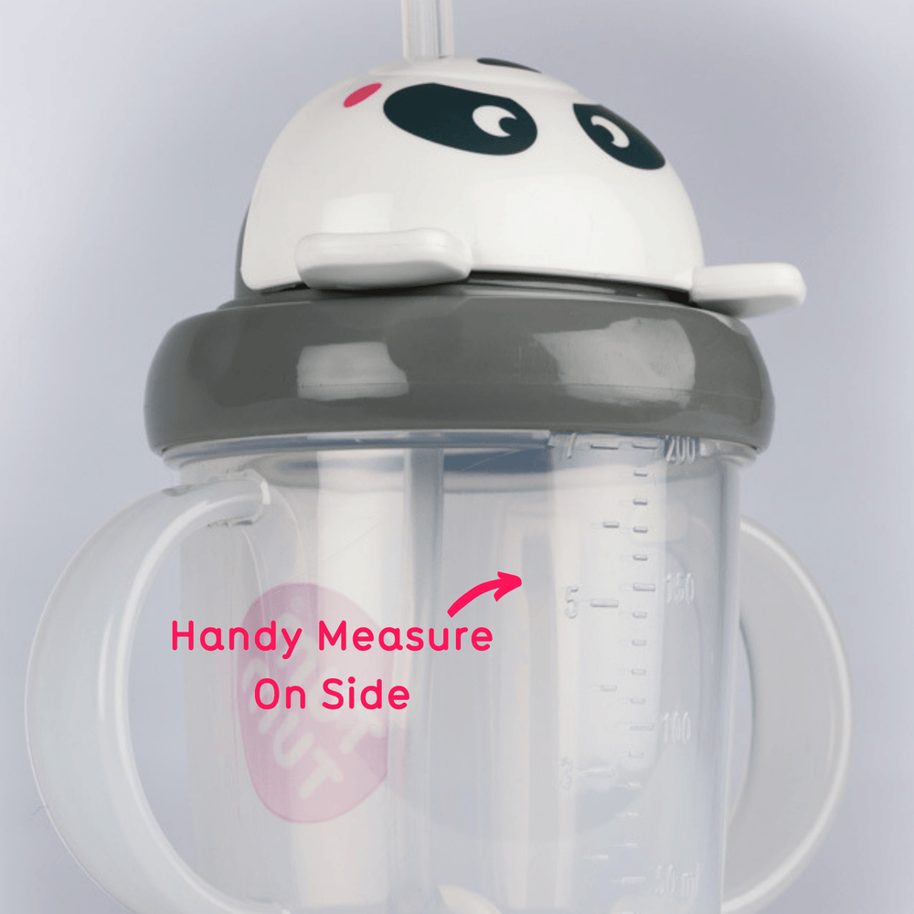 Tippy Up Sippy Cup with Weighted Straw, Pip Panda, 200ml