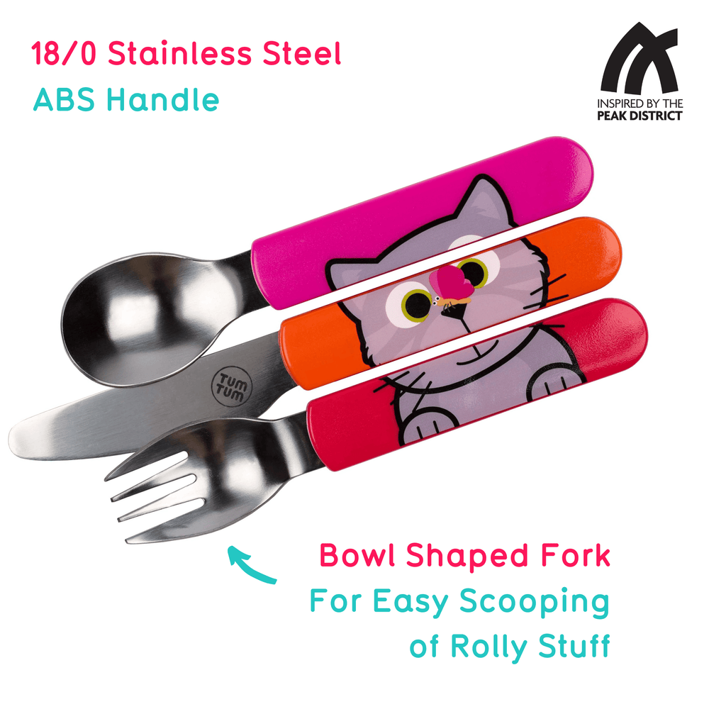Toddler cutlery with travel case