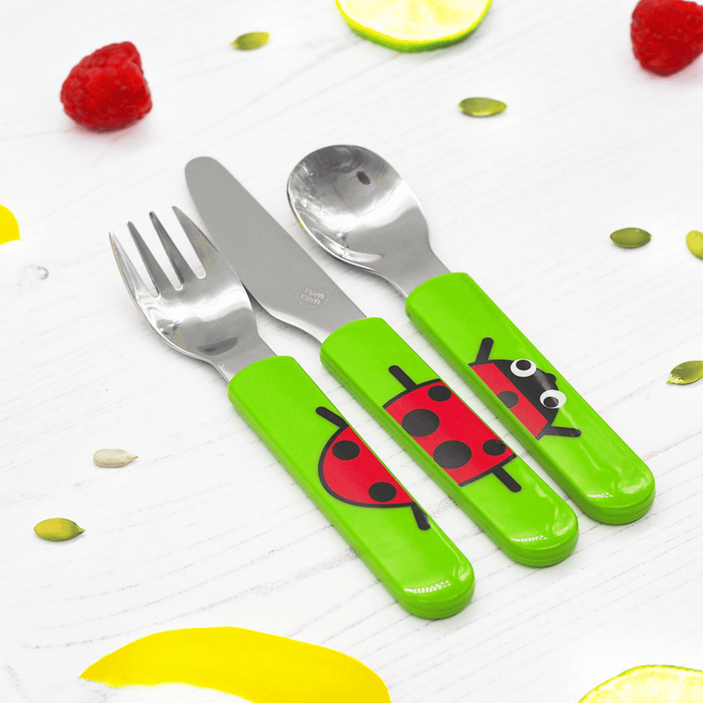 Easy Scoop Toddler Cutlery with Travel Case, Ladybird