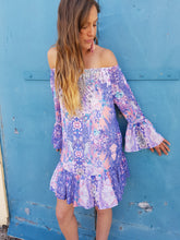 Load image into Gallery viewer, Lilac Dreams Off Shoulder Dress