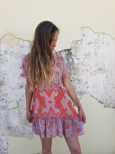 Tribal Sunset Flutter Dress