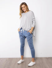 Load image into Gallery viewer, Lily Denim Jogger | Blue Wash