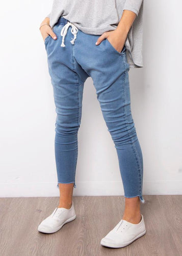 Lily Denim Jogger | Blue Wash
