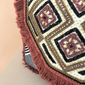 Eastern Bead & Fringe Clutch