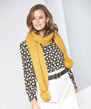 Load image into Gallery viewer, Pom Pom Scarf | Mustard